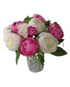 Artificial Peony Flowers with Vase