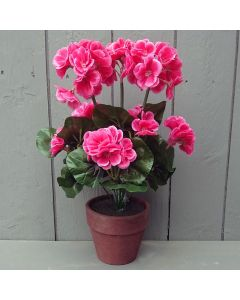 35cm Artificial Geranium Plant in Pot