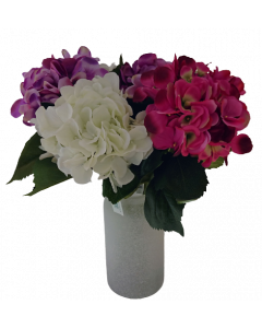Artificial Hydrangea Flowers  with Vase