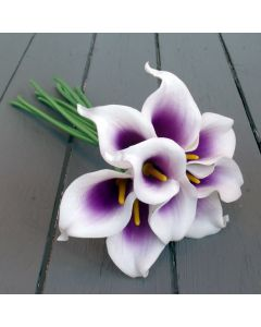 Artificial Purple / White Calla Lily Bunch