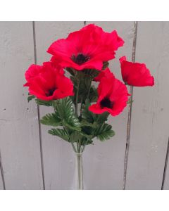 Artificial Red Poppy