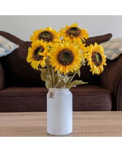 Artificial Sunflower Stems with Vase
