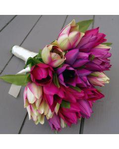 Artificial Tulip Bridal Bouquet