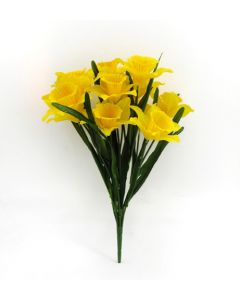 Artificial yellow daffodil bush