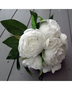 Artificial White Peony Flowers