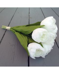 Artificial White Tulip Bunch