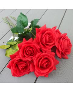 Artificial Real Touch Red Rose