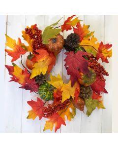 Artificial 30cm Autumn Wreath