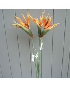 3 x Large 80cm Artificial Bird Of Paradise