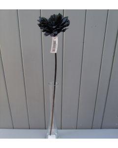 Artificial 55cm Single Black Gerbera