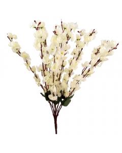 60cm Artificial Ivory Blossom Bush