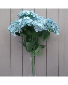 Artificial 56cm Light Blue Hydrangea Bush