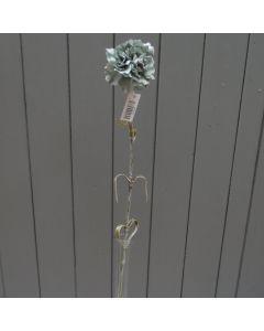 Artificial 61cm Single Blue Carnation