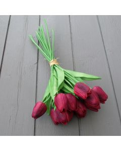 Real touch wine tulips