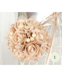 Artificial Cappuccino Rose Pomander