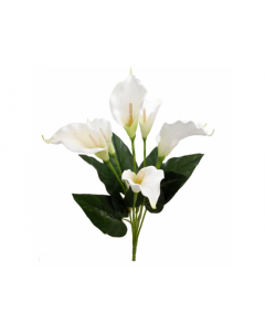 60cm Artificial White Calla Lily Bush