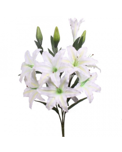 Artificial Giant Ivory Casablanca Lily Bush