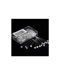 72 x 4mm Clear Diamante Pins