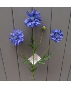 Artificial 59cm Blue Cornflower Spray