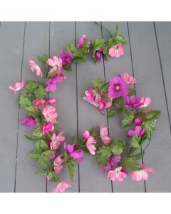 Artificial 160cm Pink & Lilac Cosmos Garland