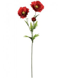 70cm Artificial Red Country Poppy