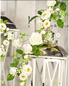 Artificial 140cm Cream Rose Garland