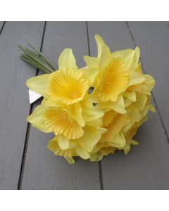 Artificial 34cm Yellow Daffodil Bunch