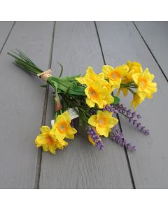 Artificial Lavender and Daffodil Flowers