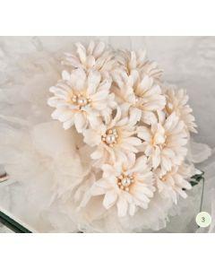 Artificial Cream Daisy Bouquet