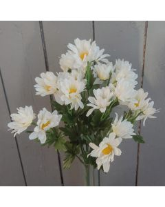 Artificial 45cm White Daisy Bush