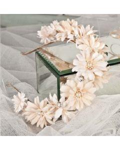 Artificial Cream Daisy Headband