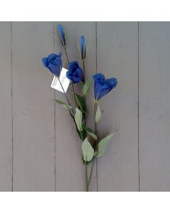Artificial 60cm Blue Lisianthus Spray
