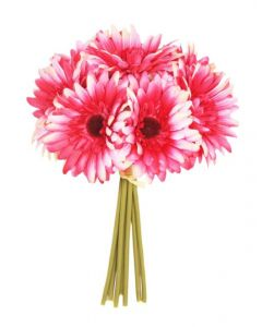 Artificial 26cm Dark Pink Gerbera Bunch