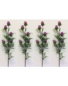 4 x Artificial Fuscia Thistle Flowers