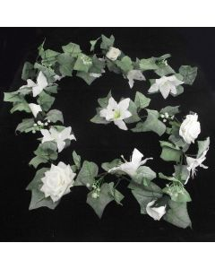 Artificial 6ft White Wedding Garland