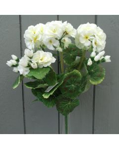 Artificial Ivory Geraniums