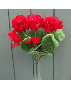 Artificial 35cm Red Geranium Bush
