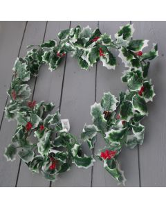Artificial Variegated Holly Garland