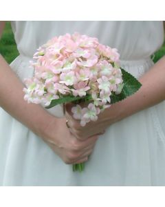 Artificial Pale Pink Hydrangea Bouquet