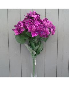 Artificial 56cm Purple Hydrangea Bush