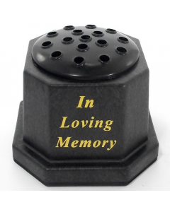 Weighted Memorial Grave Vase - In Loving Memory