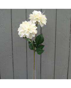 Artificial 63cm Ivory Chrysanthemum Spray