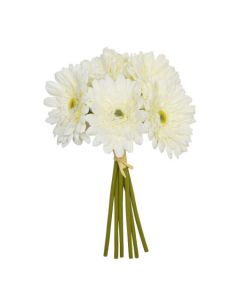 Artificial 28cm Ivory Gerbera Bunch