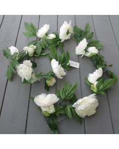 Artificial 6ft Cream Peony Garland