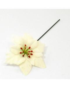 Box of 72 Artificial 22cm Ivory Poinsettia Picks