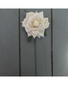 Artificial 24cm Single Ivory Rose