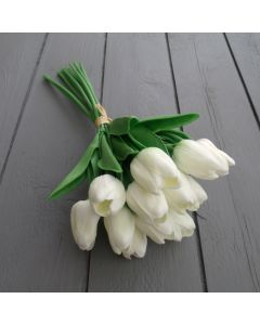 Ivory real touch tulips
