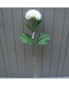 Artificial 55cm Single Cream Hydrangea