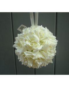 Artificial Cream Rose Pomander