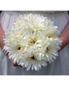 Artificial Medium Ivory Gerbera Bouquet